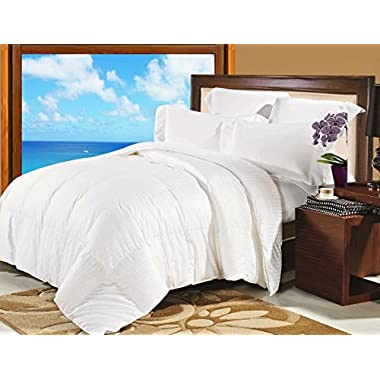 Natural Comfort Soft and Luxurious 300TC Sateen White Down Alternative Duvet Insert, King