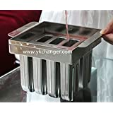 Ice cream popsicle molds DIY home use stainless steel 2x4 8pieces with stick holder