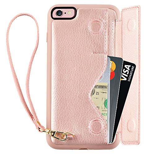 Wallet Case for iPhone 6s Plus with Strap,
