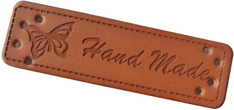 Heng Butterfly Logo Ropa Hecha a Mano Etiquetas de Cuero para ...