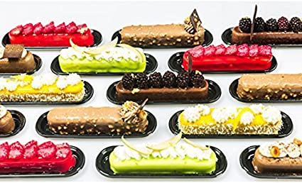 Details about  /EE/_ Silicone Cake Classic Collection finger Non Stick 8 Forms Eclair Baking Mold