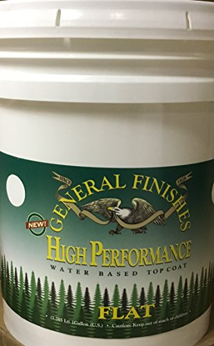 General Finishes Water Based High Performance Urethane Topcoat (5 Gallon, Flat) (5 Gallon Flat)