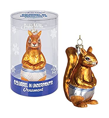 Squirrel in Underpants Christmas Tree Ornament Decoration