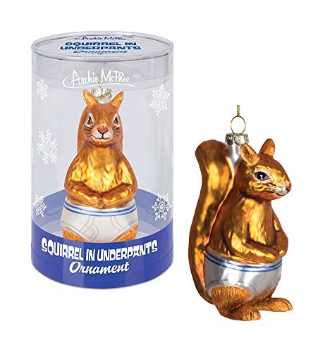 Accoutrements Squirrel In Underpants Ornament -