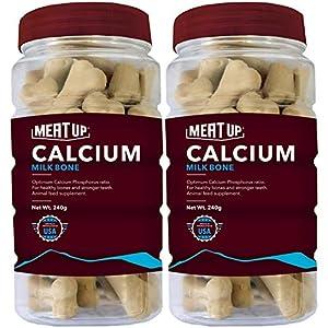 Meat Up Calcium Bone Jar, Dog Supplement Treats – 240 gm, 30 Pieces (Buy 1 Get 1 Free)