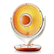 MAZHONG Space Heaters Heater Home Desktop Office Shaking Head Silent Heater Timing