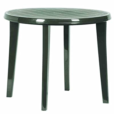 Jardin 137183 Lisa Table en plastique vert Ø 90 x H 73 cm ...
