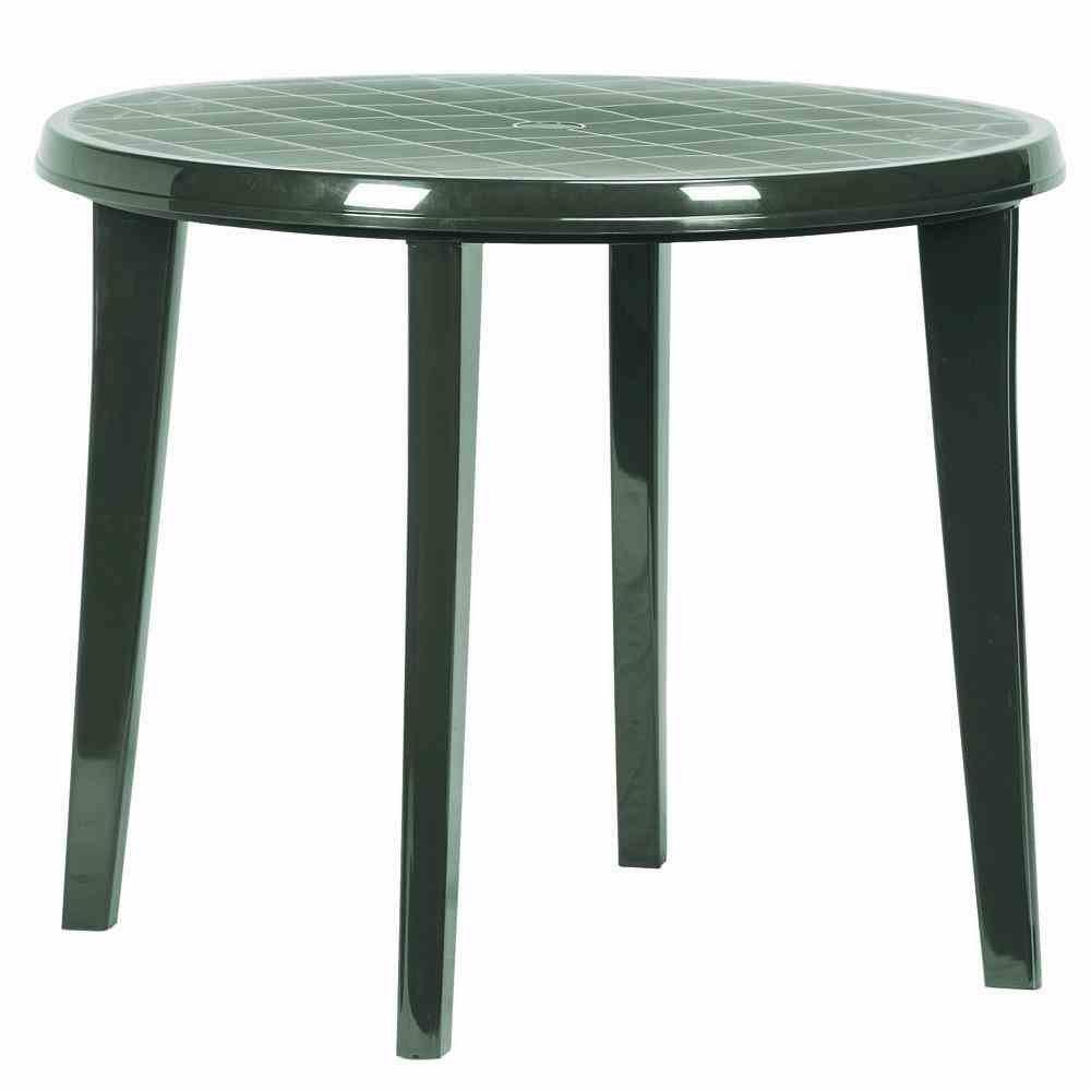 Jardin 137 183 Tavolo Lisa, interamente in plastica ø 90 x H 73 cm, verde 137183