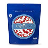 Colored Size 0 Empty Gelatin Capsules by Capsuline - Red/White 1000 Count