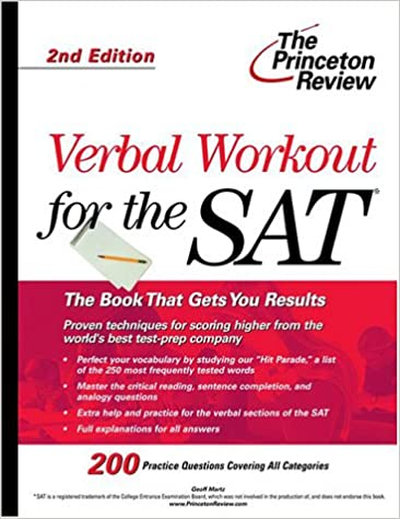 Verbal Workout For The Sat 2nd Edition Sat Verbal Workout Geoff