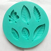 Longzang Leaf Art Deco Silicone Mold Sugar Craft DIY Gumpaste Cake Decorating Clay
