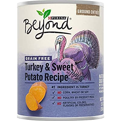 Purina Beyond No Grain Turkey and Sweet Potato Recipe Ground Entree Dog Food  (6-cans) ,13 Ounce Each can