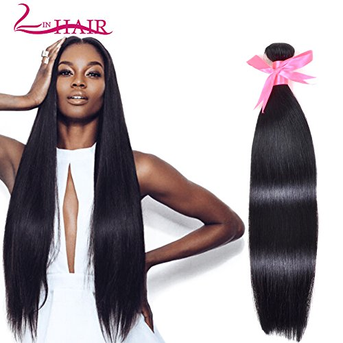 Lin Hair Brazilian Virgin Straight Hair Bundles 100% Unprocessed Human Hair Weave Extensions Natural Color Can Be Dyed and Bleached (14