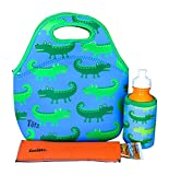 KOVERZ - 3 Piece Lunch Tote Set w/Freezer Pop Sleeve - CHOOSE YOUR STYLE! - Alligators