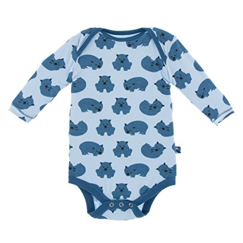 Boys Print Long Sleeve One Piece, Pond Wombat, 18-24 Months ()