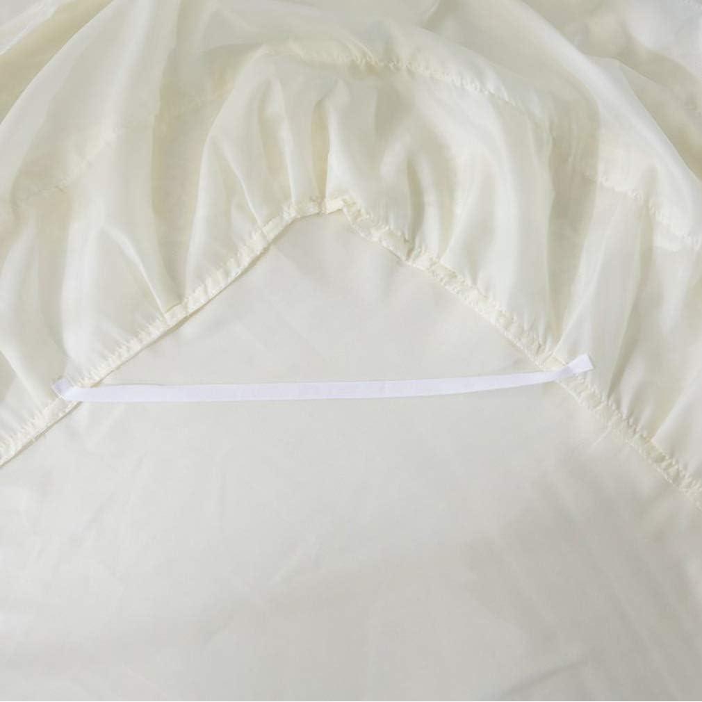 59x79inch BBXW Romantique Trois-Couche Dentelle Jupe De Lit,/Él/égant /Ébouriff/é Volant Couverture De Lit,Haute-qualit/é Jacquard Dentelle Taill/és Ensembles De Lits,Confortable Tissu B 150x200cm