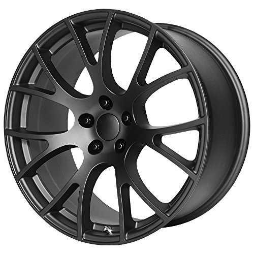 (OE CREATIONS PR161 Matte Black Wheel with Painted (20 x 9. inches /5 x 71 mm, 20 mm Offset))