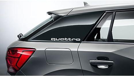 Original Audi Q2 C Blade Dekorfolie Set Quattro Exterieur Schriftzug Florettsilber 81a064317 Z7g Auto