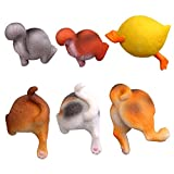 WINOMO 6pcs Animal Butt Refrigerator Magnets Cut Strong Magnetic for Home Decoration