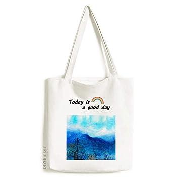 Amazon.com: Bolsa de lona para pintar en la montaña, color ...