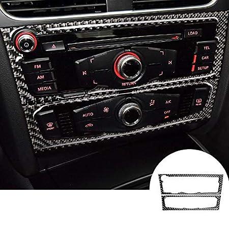 3 modelos Cubierta de fibra de carbono para consola central de aire acondicionado y panel de CD