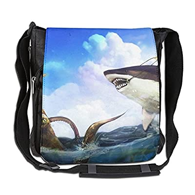 87fd3ff3258d Crazy Octopus And Sharks Fashion Print Diagonal Single Shoulder Bag ...