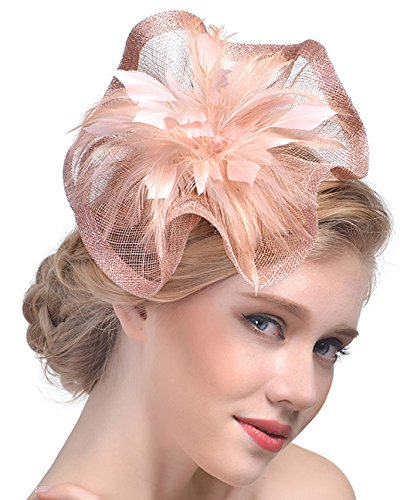 Feather Fascinators Hair Clip Pillbox Hat Derby Party