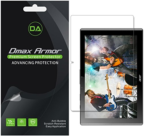 Dmax Armor [3-Pack] for Acer Iconia One 10 B3-A40 Anti-Glare & Anti-Fingerprint Screen Protector - Lifetime Replacement