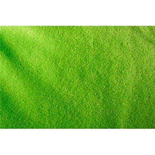 Solid Anti-Pill Polar Fleece; No-Sew Tie Blanket Fabric (Lime Green)