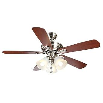 Hampton bay 44 in westmount 3 lights ceiling fan brushed nickel westmount 3 lights ceiling fan brushed nickel aloadofball Choice Image