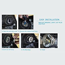 IMOSONTEC 9012 G5 LED Headlights For Cars Super Bright Headlight Bulbs Conversion Kit Headlamps With 80W/8000LM 8000K/cold blue color temp-2 Yr Warranty