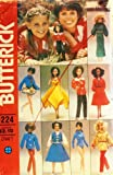 """Butterick 6664 Marie Osmond Sewing Pattern, Wardrobe for 11 1/2"""" or 12"""" Fashion Doll Retro Fits Barbie and Tammy, Personality Doll"""