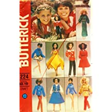 "Butterick 6664 Marie Osmond Sewing Pattern, Wardrobe for 11 1/2"" or 12"" Fashion Doll Retro Fits Barbie and Tammy, Personality Doll"