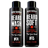 Beard Wash and Conditioner Bundle by Wild Willies Packed w/ Organic Oils & Nutrients to Shampoo and Soften Your Beard Along With Peppermint & Eucalyptus Leaves An Incredible Tingle. Made In The USA!