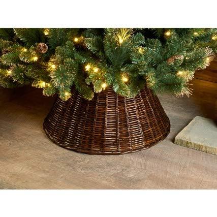 A2Z home solutions - Falda para árbol de Navidad, Efecto ratán ...