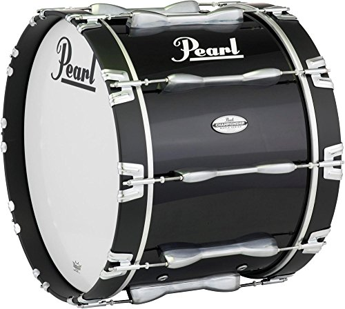 (Pearl 24 x 14 in. Championship Maple Marching Bass Drum Midnight Black)