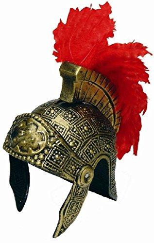 Roman Trojan Warrior Spartan Soldier Costume Helmet with Red (Trojan Warrior Helmet Costume)