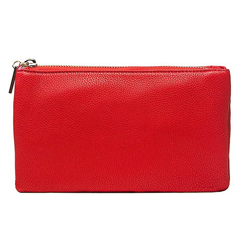 Strap Wristlets Wrist Bags and Bag Adjustable Shoulder Single Party Body Evening Messenger Red Detachable LS Long Strap Cross Baguette Clutch with x8WdqHz0n