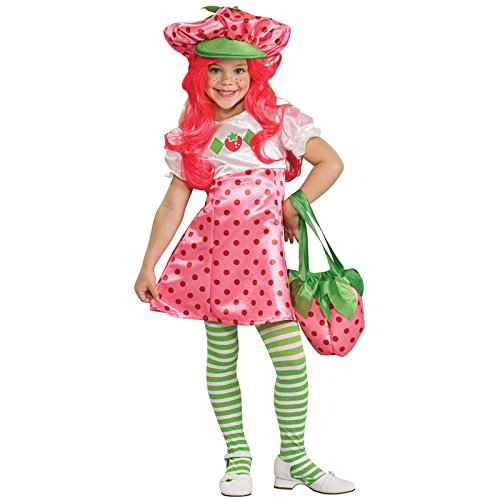 Deluxe Strawberry Shortcake Costume - Small - Deluxe Strawberry Shortcake Wig For Women