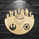 Star Wars Gift For Husband, Yoda Wooden Clock, Star Wars Wood Clock, Leia Organa Birthday Gift, Wall Clock Modern, Gift For Kids, Wall Clock Vintage, Luke Skywalker Gift For Him, Han Solo Wooden Clock For Sale