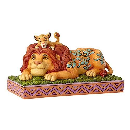 Enesco Disney Traditions by Jim Shore Lion King Simba and Mufasa Father's Pride Figurine, 4.41