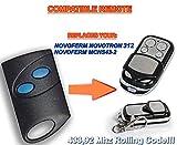 NOVOFERM NOVOTRON 312, MCHS43-2 4-channel compatible remote control, replacement transmitter, 433.92Mhz rolling code keyfob