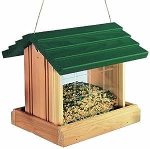 North States Hanging Platform Birdfeeder- Green Roof