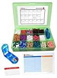 Vitamin & Supplement Pill Organizer Tray with 17 Compartments - Includes Free Pill Cutter, Medication Map & Medical Alert Card - Great Daily Pill Organizer - Large Supplement Organizer (Green)