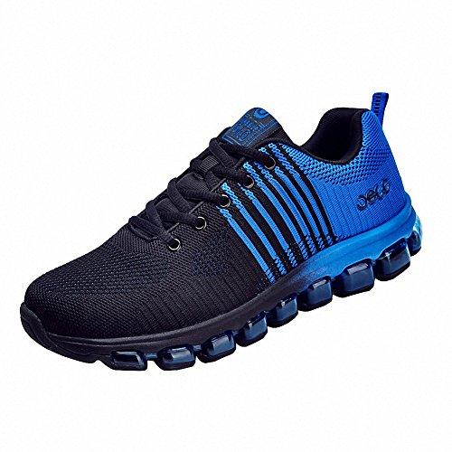 Ben Sports hombre Zapatillas de Zapatos de cordones Calzado deportivo Calzado de correr en montaña de hombre azul