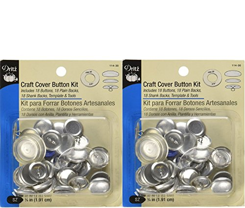 Buy 2 cover button kit