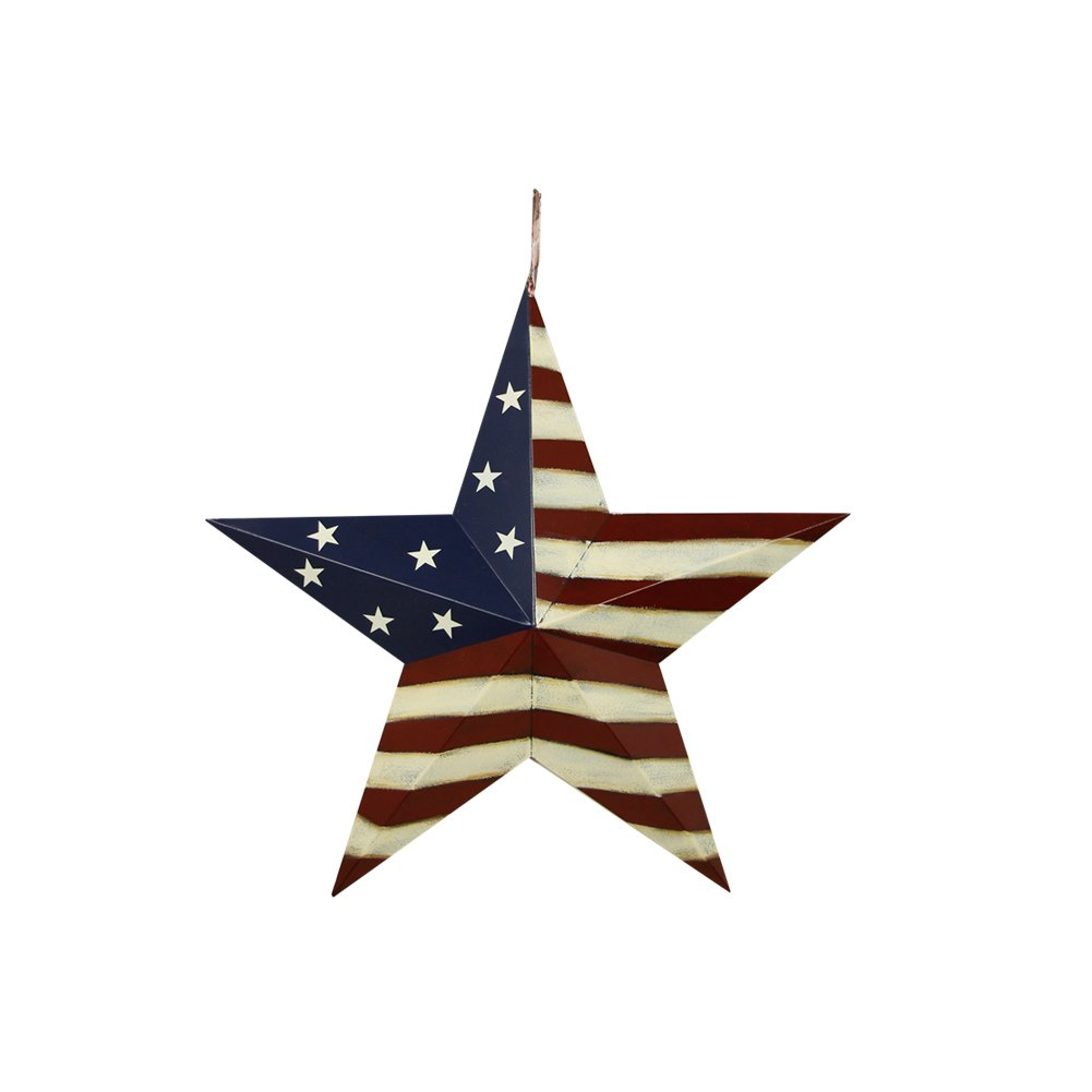 12'' Inch July of 4th Patrotic OLD Glory American Flag Barn Star