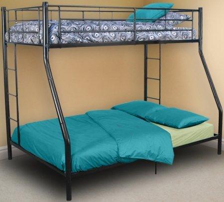Black Twin Over Double Bunk Bed Walker Edison Btodbl