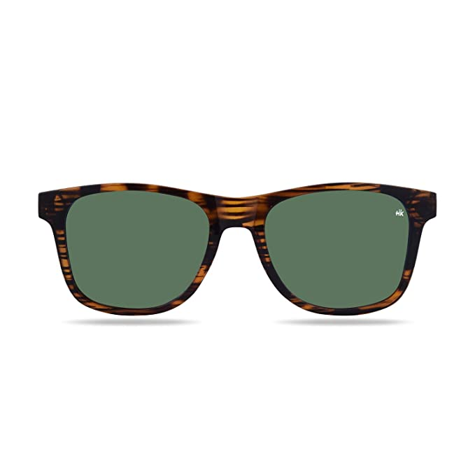 Hanukeii Kailani Vintage Wood Gafas de sol, Wayfarer, Polarizadas, 51, Vintage Wood