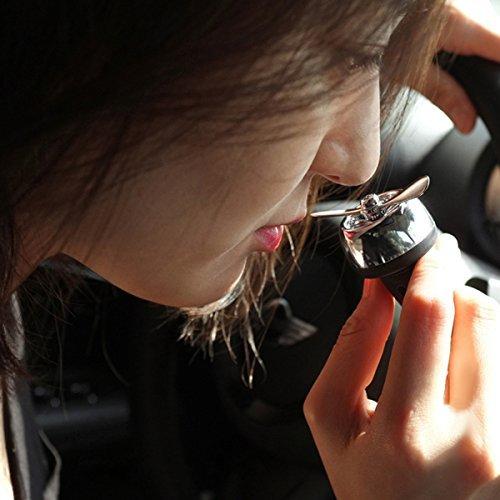 Topgio Car Humidifier, Portable Car Air Purifier, Aromatherapy Air Purifier, Car Fragrance Diffuser Vent Clip, Mini Humidifer, Car Air Freshener Aromatherapy Essential Oil Diffuser, Silver